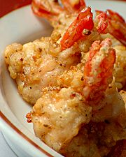 Picture: garlic-peppered prawns